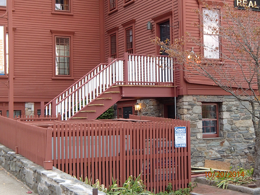 Exterior restoration of historic Providence building