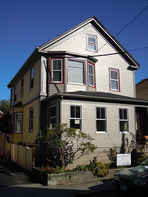 Exterior restoration in Newport