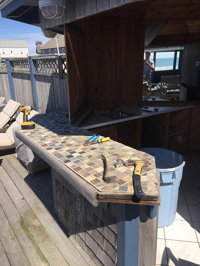 Remodel of an outdoor bar in Matunuck Beach