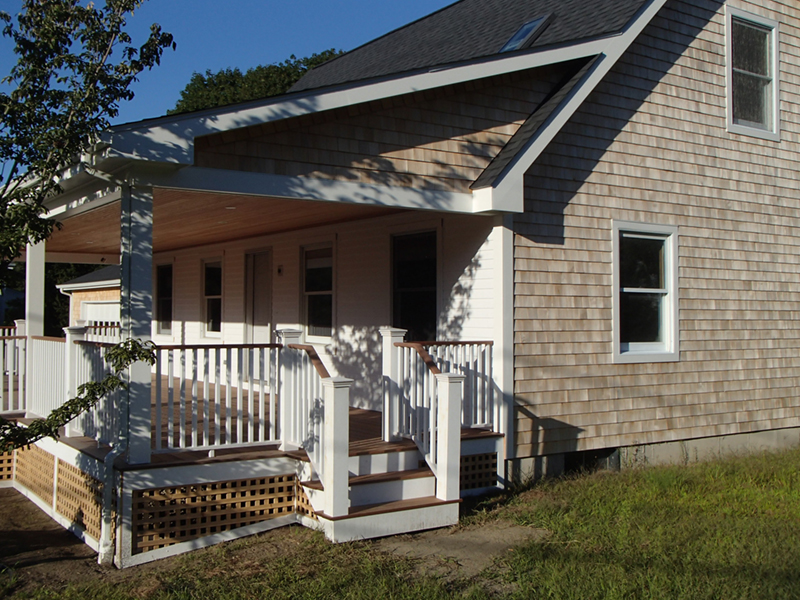 New farmers porch and restoration in Jamestown